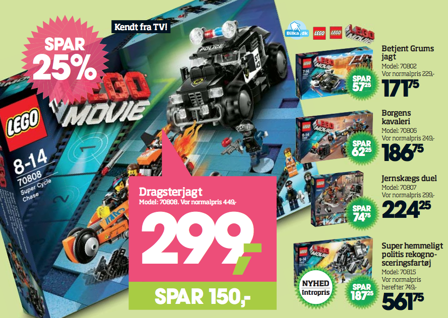 25 % rabat på LEGO The Movie serien i Bilka